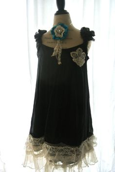 Tattered Dress gypsy cowgirl lace dress by TrueRebelClothing, $82.00