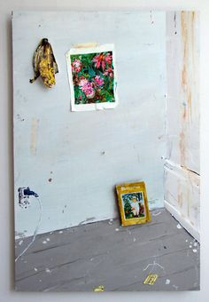 """Hilary Doyle; Other, Mixed Media """"Corner With Book"""""""