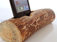 iPhone docking station / iPod docking . $50.00, via Etsy.