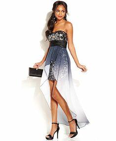 Speechless Juniors' Sequin High-Low Dress