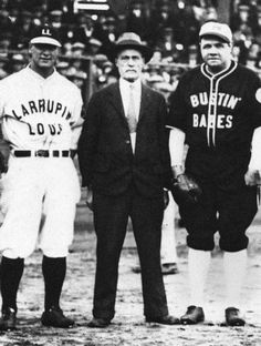 Remembering the era of Tim O'Neil, 'King of the Sandlots'  A commentary by Patrick T. Conley, president of the Rhode Island Heritage Hall of Fame, posted to The Providence Journal on April 2, 2014.  Tim O'Neil is the namesake of the field at #Yawgoog.  In the photo O'Neil is between Lou Gehrig (left) and Babe Ruth (right).