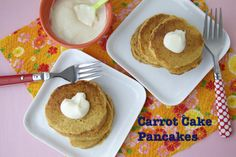 Carrot Cake Pancakes for Easter breakfast