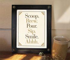 coffee lovers, art decor, kitchen art, art prints, coffee signs