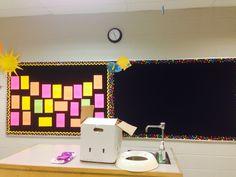 black and neon classroom! love!