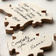 Personalized Wood Puzzle Wedding Guestbook / Guest Book - Bella Puzzles™