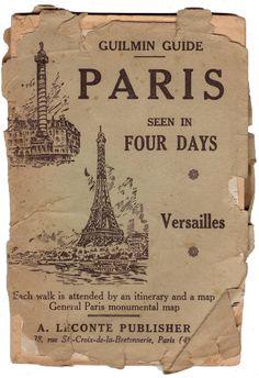 Vintage guide to Paris