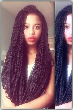 Corn Rows with Marley Hair | senegalese twists #Marley Twists #Havana Twists #Protective Style