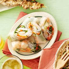 Add global goodness to your potluck table with a plate of fresh, Asian-inspired summer rolls: http://www.bhg.com/recipes/party/party-ideas/heart-healthy-potluck-recipes/?socsrc=bhgpin060714summerollspage=9