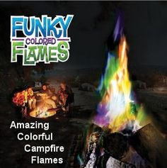 Colored Campfire Flames