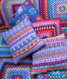 Gorgeous #crocheted and #knitted colours!