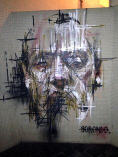 Artist : Borondo. Place : Vitry Sur Seine, France. Tags : Street Art, Graffiti, Urban culture.