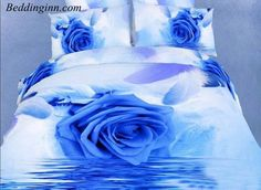 #bedding #duvetcoversets #3dbeddingsets #rose Blue Rose and Feather on the Water Print Duvet Cover Sets Buy link--> http://goo.gl/1hku8R Discover more--> http://goo.gl/GSvnmE Live a better life, start with @beddinginn