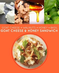 Goat Cheese and Honey Sandwich | 15 Brown-Bag Lunch Sandwiches With No Meat