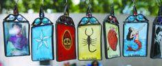 suncatch ornament, mexican art, sun catcher, la boda, mexican loteria