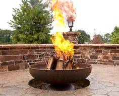 """""""The Patriot"""" Fire Pit (Natural Steel Finish)- """"The Patriot"""" Fire Pit by Ohio Flame combines sleek and modern styling with tough American quality and durability.  With no parts to break or wear out over time, this Fire Pit is built to last a lifetime."""