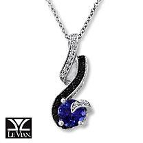 Le Vian® 14K Gold Diamond & Blueberry Tanzanite™ Necklace