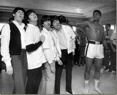 The Beatles meet Ali. Feb.18 1954.