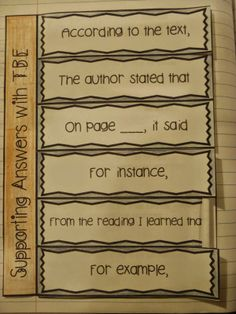 Common Core ELA Standards: Text Based Evidence (TBE) using Interactive Notebooks