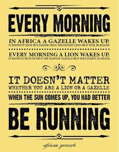 Monday Morning Motivation: Better Be Running