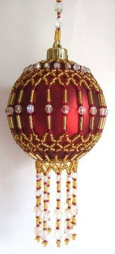 X302 Bead PATTERN ONLY Beaded Cleopatra Christmas Ornament Cover via Etsy