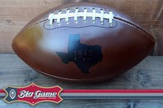 Football branded with Texas - 1845 (the founding year of #Baylor University!) #SicEm