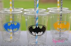 Kids Party Cups12 Super Hero Birthday Boy Cups by SignatureAvenue