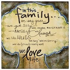 In This Family Wall Art family wall art, art quotes, christians, wall decor, new houses, back home, come backs, famili wall, families