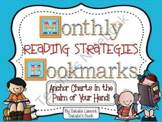 Monthly Reading Strategies Anchor Charts in the Palm of Your Hand from Natalies Nook on TeachersNotebook.com (139 pages)