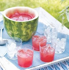 Watermelon Punch Bowl (and punch recipe!)