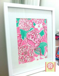 Lilly Pulitzer Azalea Pink May Flowers water color print