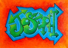 Personalised Graffiti Name Art on Canvas £45.00
