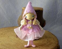 Fairy Bendy Doll by Princess Nimble-Thimble via Etsy