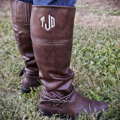 Monogrammed Riding Boots - Memento - Personalized Monogrammed Gifts