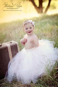Baby tutu wedding tutus Flower Girl Dress by BambaroosBoutique. $125.00, via Etsy.