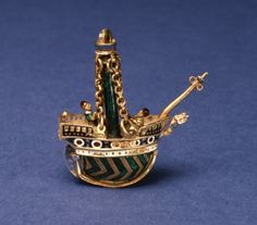 A Renaissance pomander in the shape of a ship. Walters Museum