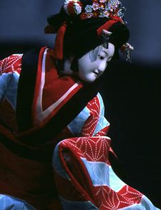Japanese old puppet theatre -Bunraku-
