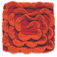 Spiral Crochet Block: #free #crochet #pattern ✿⊱╮Teresa Restegui http://www.pinterest.com/teretegui/✿⊱╮
