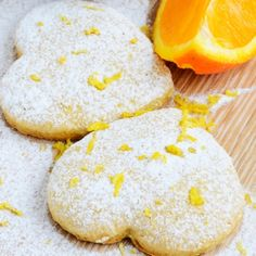 A very yummy recipe for zesty orange powdered sugar cookies.. Zesty Orange Powdered Cookies Recipe from Grandmothers Kitchen.