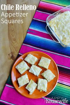 These Chile Relleno Appetizer Squares are full of flavor without any heat! | The Happy Housewife