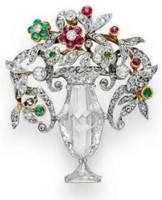 Diamond, emerald and ruby brooch  1910  Christie's