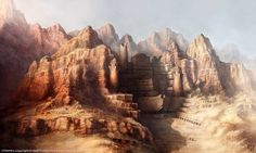 Palace Of Cetriss concept art from the video game Age of Conan: Unchained by Grant Regan