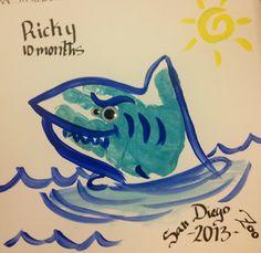 Baby's hand print (shark).