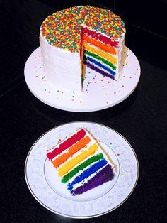Como fazer o Rainbow Cake (Bolo Arco-Íris) - Gostei... e agora?! http://www.gosteieagora.com/2013/09/30/como-fazer-o-rainbow-cake-bolo-arco-iris/