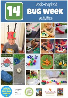 Book Inspired Bug Themed Crafts and Activities including 2 Eco Friendly Giveaways! Virtual Book Club Summer Camp Session 1!  {Which was your favorite book & activity from Bug Week?}