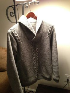 Irish collared men's sweater scroll down for free pattern
