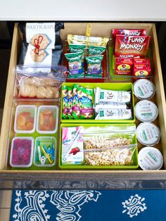 Start a snack station to get organized for back-to-school lunch preparation!