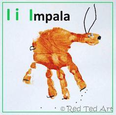 I for Impala! #Handprint #Alphabet continues