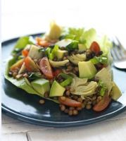 Lentil Salad with California Avocados and Cara Mia Marinated Artichokes