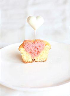 Cupcakes de Saint Valentin. heart cupcak, cupcake recipes, valentin cupcak, food, cupcak recip, san valentin, anemon corner, valentine cupcakes, anemones
