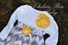 Baby Girl Onesie Dress, Baby Girl Dress, Chevron print, Designer Sleep Gown, Layette, Baby Nightgown, Newborn Sleep Sack, Baby Girl Onesie. $28.00, via Etsy.